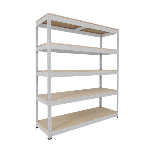 Rapid 1 Shelving (1980h x 1220w) Grey - 5 Chipboard Shelves