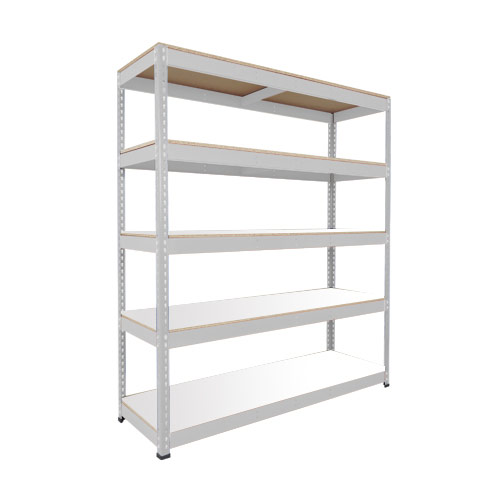 Rapid 1 Shelving (1980h x 1220w) Grey - 5 Melamine Shelves