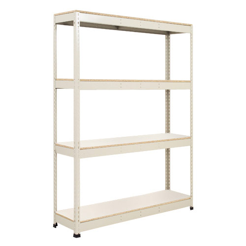 Rapid 1 Shelving (1980h x 1220w) Grey - 4 Melamine Shelves