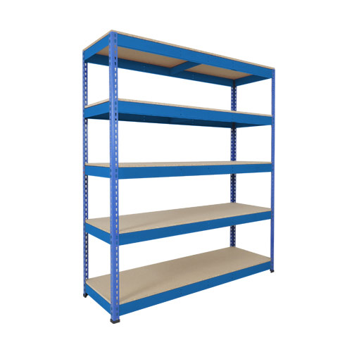Rapid 1 Shelving (1980h x 1525w) Blue - 5 Chipboard Shelves