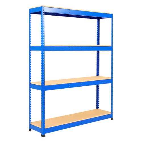 Rapid 1 Shelving (1980h x 1525w) Blue - 4 Chipboard Shelves