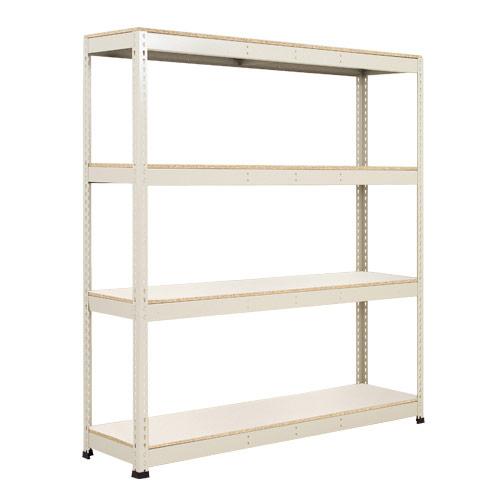 Rapid 1 Shelving (1980h x 1830w) Grey - 4 Melamine Shelves