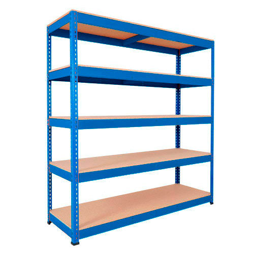 Rapid 1 Shelving (2440h x 1525w) Blue - 5 Chipboard Shelves