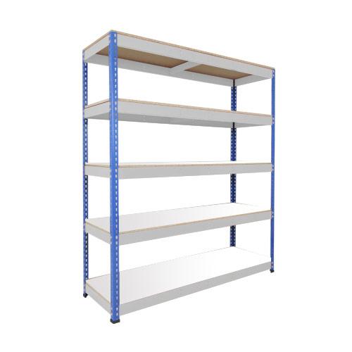 Rapid 1 Shelving (2440h x 1525w) Blue & Grey - 5 Melamine Shelves