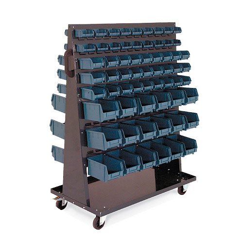 Double Sided Bin Trolley (1430h x 1060w) With 126 picking bins