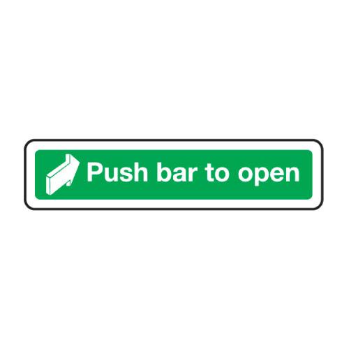 Push Bar To Open Stoved Aluminium