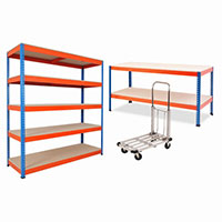 Rapid 1 Combo Deal - 1 Bay of Rapid 1 Shelving 1 Workbench & 1 Load Lugger