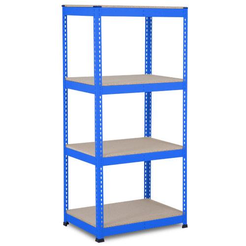 Rapid 1 Heavy Duty Shelving (1980h x 915w) Blue - 4 Chipboard Shelves
