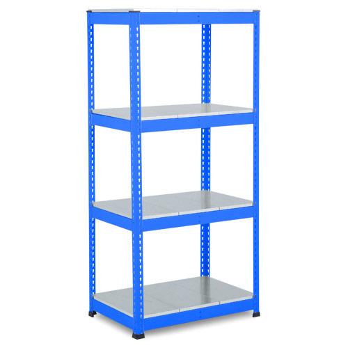 Rapid 1 Heavy Duty Shelving (1980h x 915w) Blue - 4 Galvanized Shelves