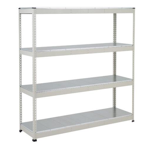 Rapid 1 Heavy Duty Shelving (1980h x 1220w) Grey - 4 Galvanized Shelves