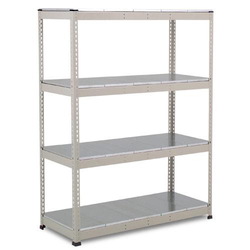 Rapid 1 Heavy Duty Shelving (1980h x 1525w) Grey - 4 Galvanized Shelves