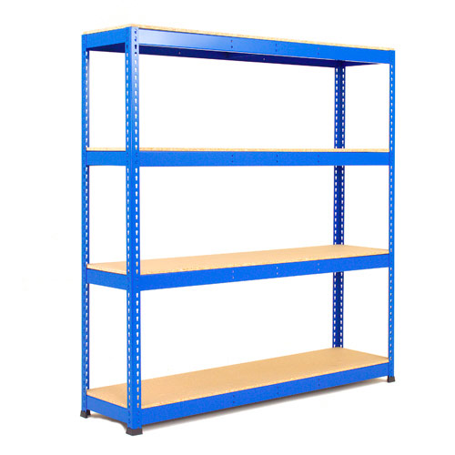 Rapid 1 Heavy Duty Shelving (1980h x 1525w) Blue - 4 Chipboard Shelves