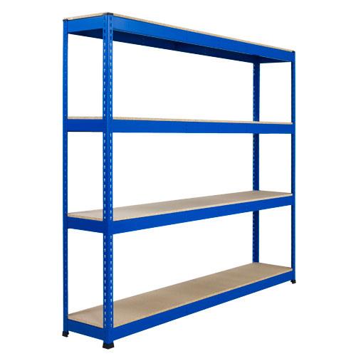 Rapid 1 Heavy Duty Shelving (1980h x 1830w) Blue - 4 Chipboard Shelves