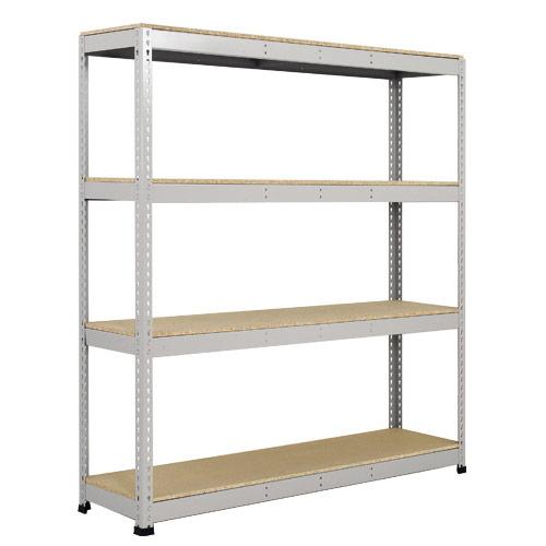 Rapid 1 Heavy Duty Shelving (1980h x 1830w) Grey - 4 Chipboard Shelves