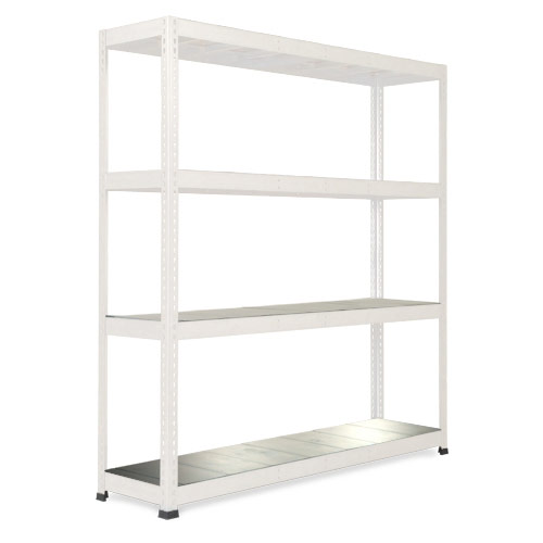 Rapid 1 Heavy Duty Shelving (1980h x 1830w) Grey - 4 Galvanized Shelves
