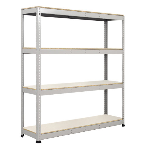 Rapid 1 Heavy Duty Shelving (1980h x 1830w) Grey - 4 Melamine Shelves