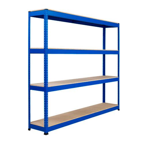 Rapid 1 Heavy Duty Shelving (1980h x 2134w) Blue- 4 Chipboard Shelves