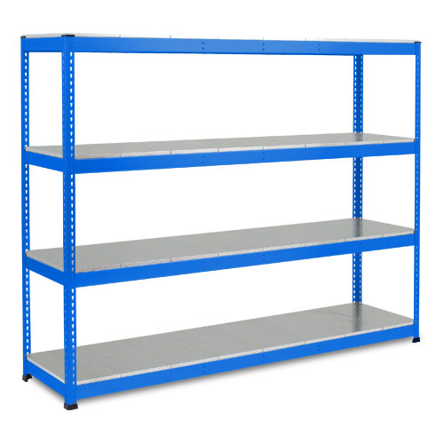 Rapid 1 Heavy Duty Shelving (1980h x 2440w) Blue - 4 Galvanized Shelves