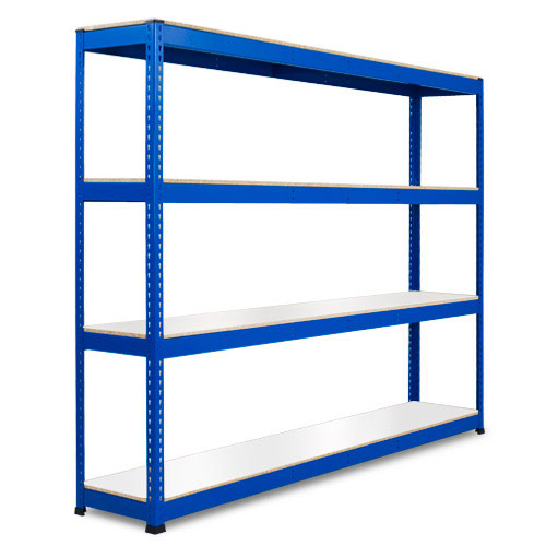 Rapid 1 Heavy Duty Shelving (1980h x 2440w) Blue - 4 Melamine Shelves
