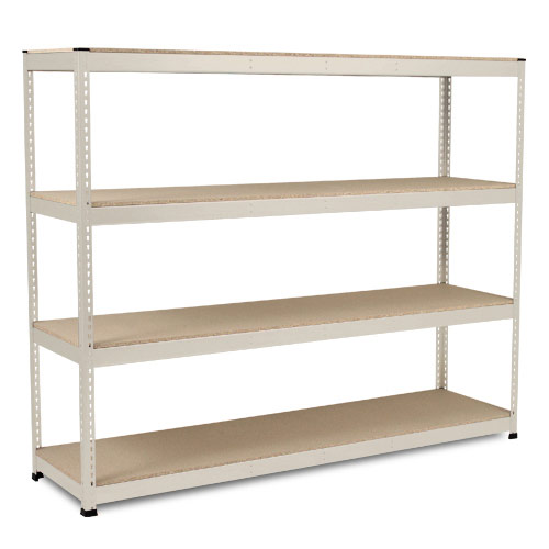 Rapid 1 Heavy Duty Shelving (1980h x 2440w) Grey - 4 Chipboard Shelves