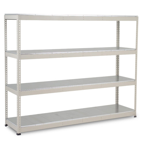 Rapid 1 Heavy Duty Shelving (1980h x 2440w) Grey - 4 Galvanized Shelves
