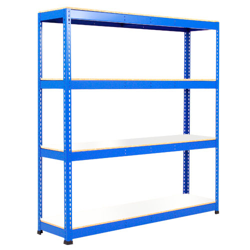 Rapid 1 Heavy Duty Shelving (2440h x 1525w) Blue - 4 Melamine Shelves