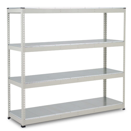 Rapid 1 Heavy Duty Shelving (2440h x 1525w) Grey - 4 Galvanized Shelves