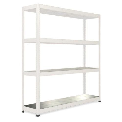 Rapid 1 Heavy Duty Shelving (2440h x 1830w) Grey - 4 Galvanized Shelves