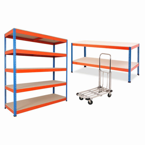 Rapid 1 Combo Deal- 1 Bay of Rapid 1 Shelving 1 Workbench and 1 Load Lugger