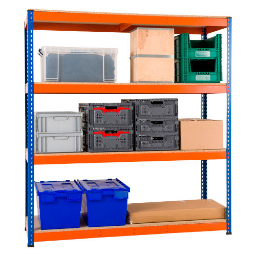 Rapid 1 Shelving- 4 Shelf Special Offer - Single Bay with 4 Shelves (1980h x 1830w)