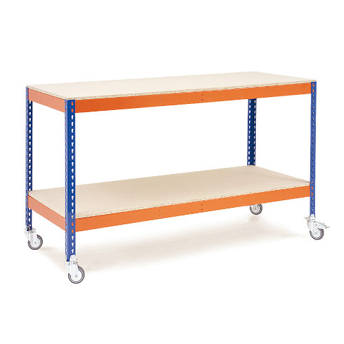 Rapid 1 Mobile Workbench - Chipboard Shelves