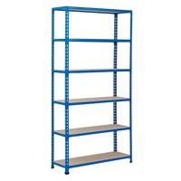 Rapid 2 Blue Shelving (1980h x 915w) c/w 6 Chipboard Shelves