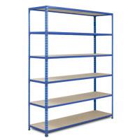 Rapid 2 Blue Shelving (1980h x 1220w) c/w 6 Chipboard Shelves