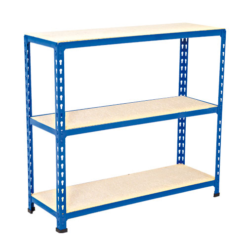 Rapid 2 Shelving (990h x 1220w) Blue - 3 Chipboard Shelves