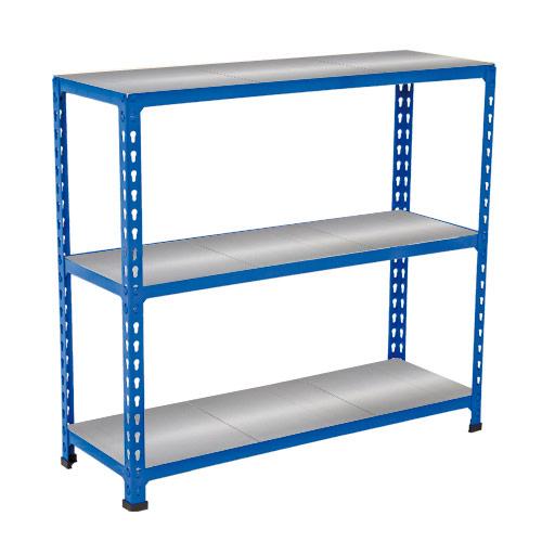 Rapid 2 Shelving (990h x 915w) Blue - 3 Galvanized Shelves