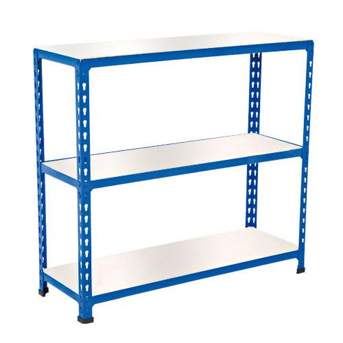 Rapid 2 Shelving (990h x 915w) Blue - 3 Melamine Shelves
