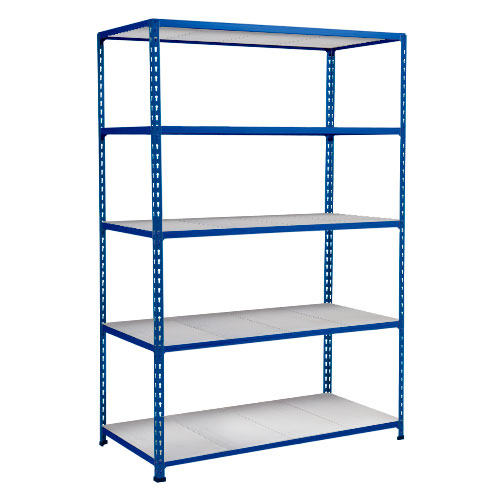Rapid 2 Shelving (1600h x 1220w) Blue - 5 Galvanized Shelves
