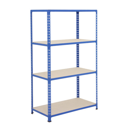 Rapid 2 Shelving (1600h x 915w) Blue - 4 Chipboard Shelves