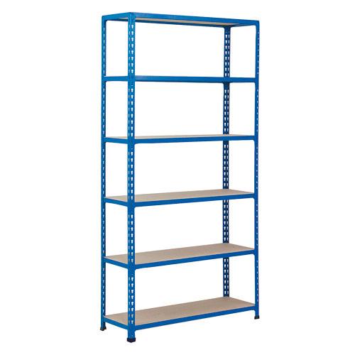 Rapid 2 Shelving (1600h x 915w) Blue - 6 Chipboard Shelves
