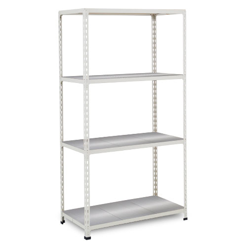 Rapid 2 Shelving (1600h x 915w) Grey - 4 Galvanized Shelves