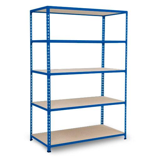 Rapid 2 Shelving (1600h x 1220w) Blue - 5 Chipboard Shelves