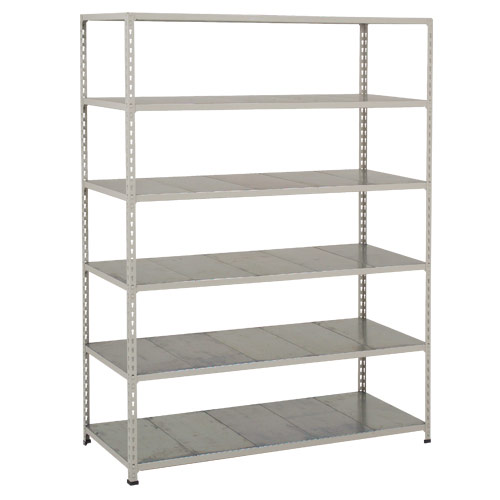 Rapid 2 Shelving (1600h x 1220w) Blue & Grey - 6 Galvanized Shelves