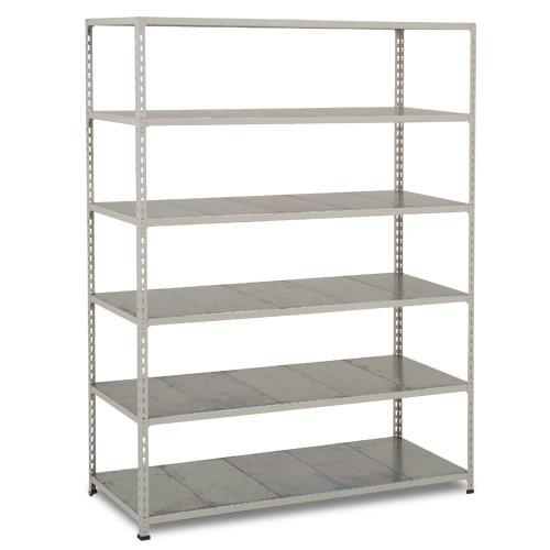 Rapid 2 Shelving (1600h x 1220w) Grey - 6 Galvanized Shelves
