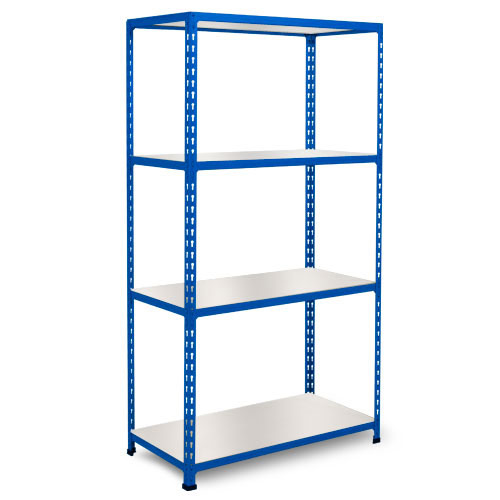 Rapid 2 Shelving (1600h x 1220w) Blue - 4 Melamine Shelves
