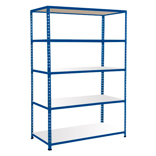 Rapid 2 Shelving (1600h x 1525w) Blue - 5 Melamine Shelves