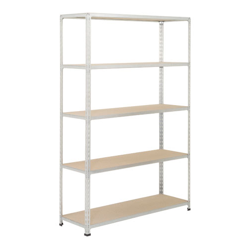 Rapid 2 Shelving (1600h x 1525w) Grey - 5 Chipboard Shelves