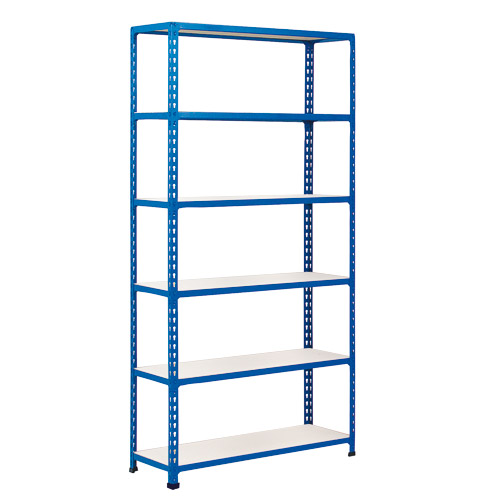 Rapid 2 Shelving (1600h x 1525w) Blue - 6 Melamine Shelves