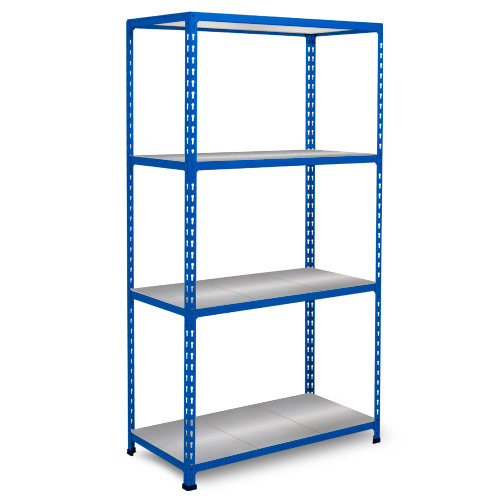 Rapid 2 Shelving (1600h x 1525w) Blue - 4 Galvanized Shelves
