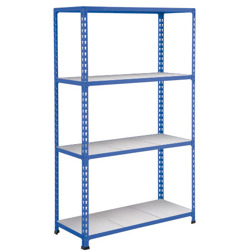 Rapid 2 Shelving (1980h x 915w) Blue - 4 Galvanized Shelves