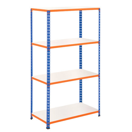Rapid 2 Shelving (1980h x 915w) Blue & Orange - 4 Melamine Shelves